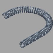 Spiral bent to arc