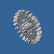 CAD Forum - Block-model: Bevel Gear 24 tooth (Plastic)