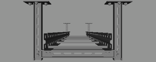 Cad Forum Block Model Cable Tray System 40 X 200 Cm