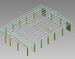 DOWNLOAD IndoorSportHall_SteelRoofTruss.dwf
