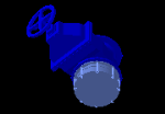 300NB_gate_valve_and_300NB_flange_Adapter.dwg