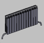 Cad forum cad bim library of free blocks radiator for Radiador dwg