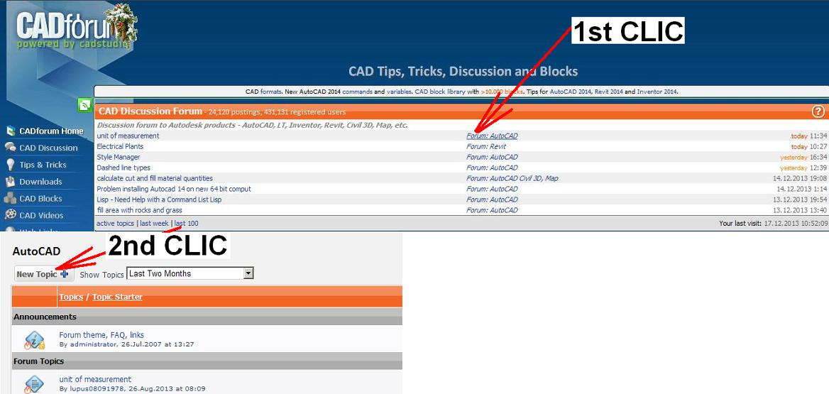 My New Topic - CAD Forum discussion (EN)