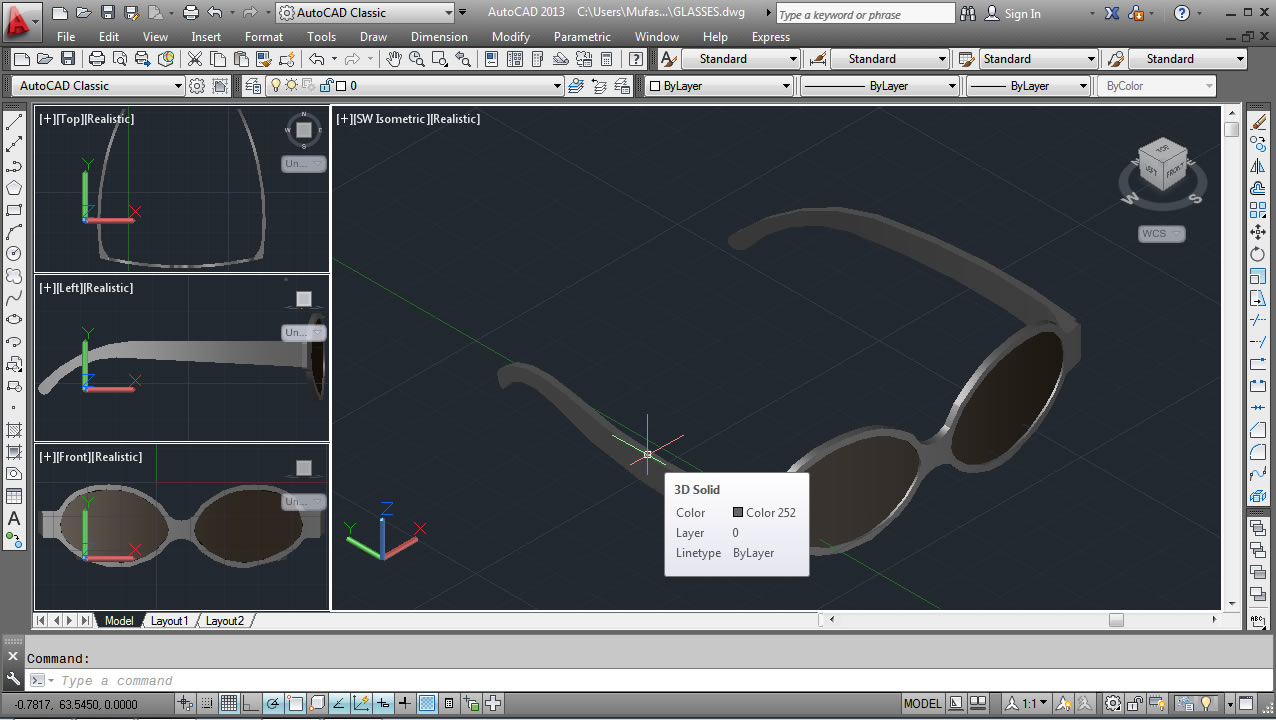 Discussion forumAutoCAD 3D Modeling Glasses