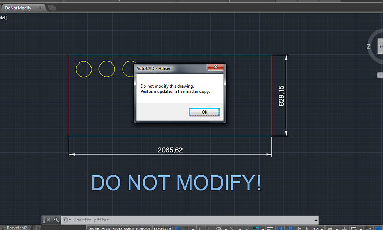 CAD Forum - Automatic warning on DWG open