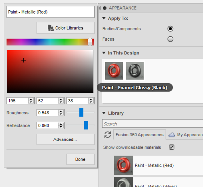 CAD Forum - Using the Pantone colors (palette) for your models in