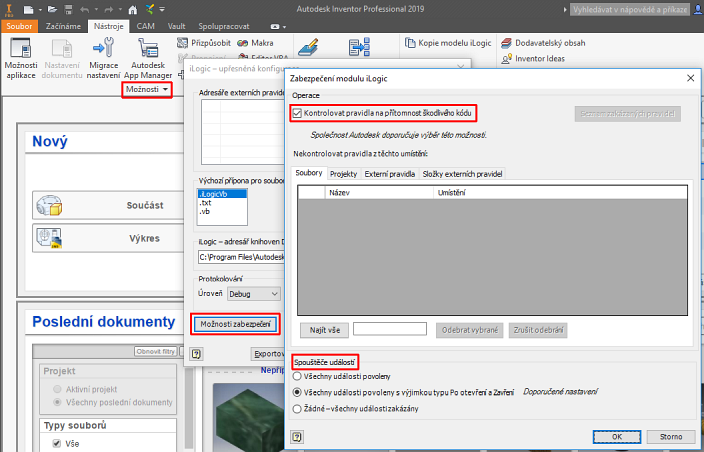 CAD Forum - Security settings for Inventor data files and add-on