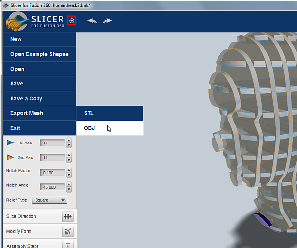 CAD Forum - How to export a sliced 3D model from Slicer for