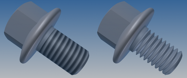 CAD Forum - How to model a 3D thread in Inventor?