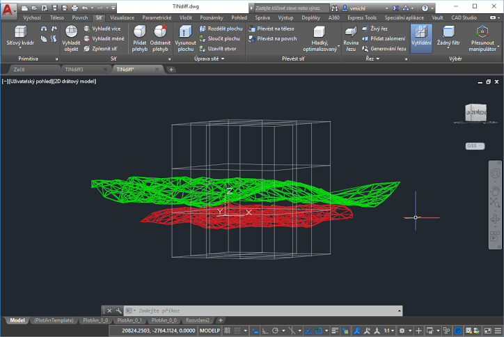 CAD Forum - Difference volume (3D solid) between two TIN